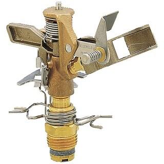 """Rain Bird 25PJDA-C Brass Impulse Sprinkler Head, Bronze, 25-50 PSI, 0"""", 1/2"""" 41'"""