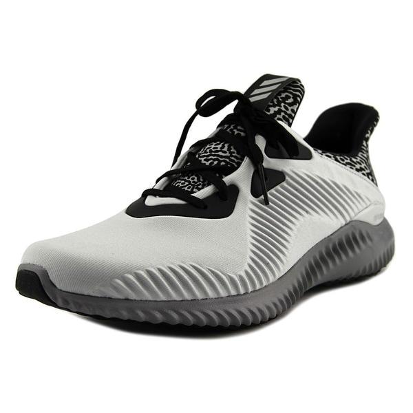581bbf03f5bee Shop Adidas Alphabounce Men Round Toe Canvas Gray Running Shoe ...