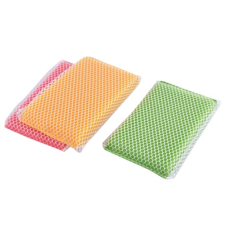 3 Pcs Scrub-Net Cleaning Sponge Scouring Pads Household Kitchenware Cleaning Tool