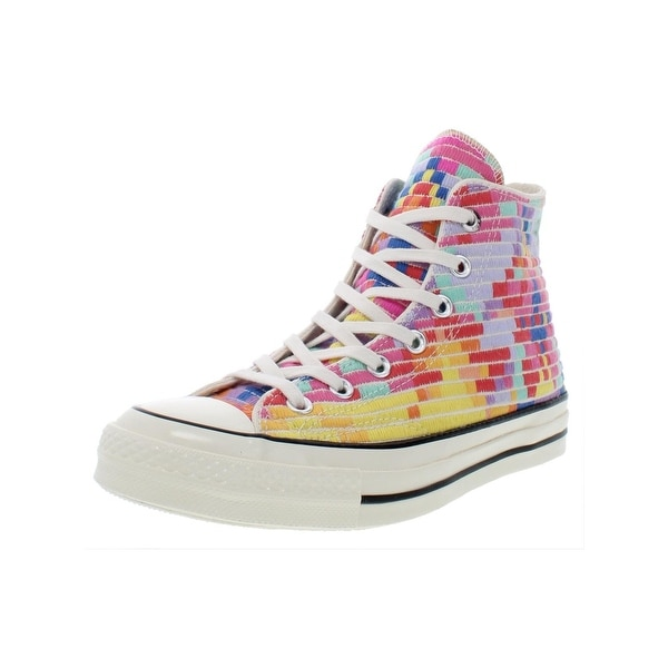 d9b284868c27a Converse Womens Chuck Taylor All Star 70 Hi High Top Sneakers Embroidered  Skate