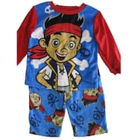 Jake the Pirate Baby Boys Red Sky Blue Cartoon Themed 2 Pc Pajama Set 12-24M