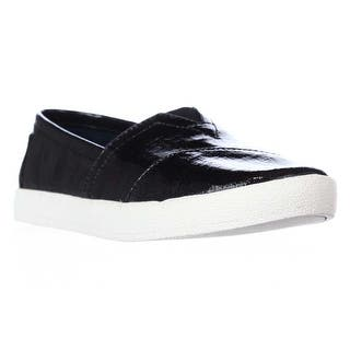 TOMS Avalon Casual Slip On Sneakers, Black Patent Linen|https://ak1.ostkcdn.com/images/products/is/images/direct/cade129dac646321881ee1c08e074746a96eec09/TOMS-Avalon-Casual-Slip-On-Sneakers%2C-Black-Patent-Linen.jpg?impolicy=medium