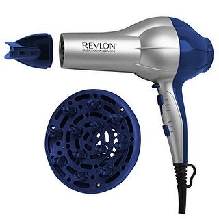 Helen of Troy RV484W Revlon Perfect Heat 1875W Shine Boosting Hair Dryer, RV484BLU