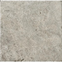 """Emser Tile T06TRAV0404AUT Trav Ancient Tumbled - 4"""" x 4"""" Square Floor and Wall T - Silver - N/A"""