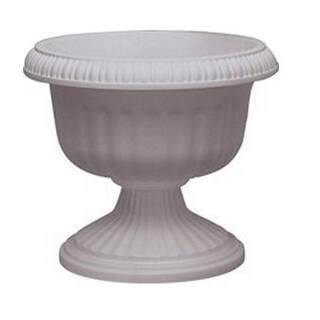 Southern Patio UR1212WH Grecian Urn Planter, White