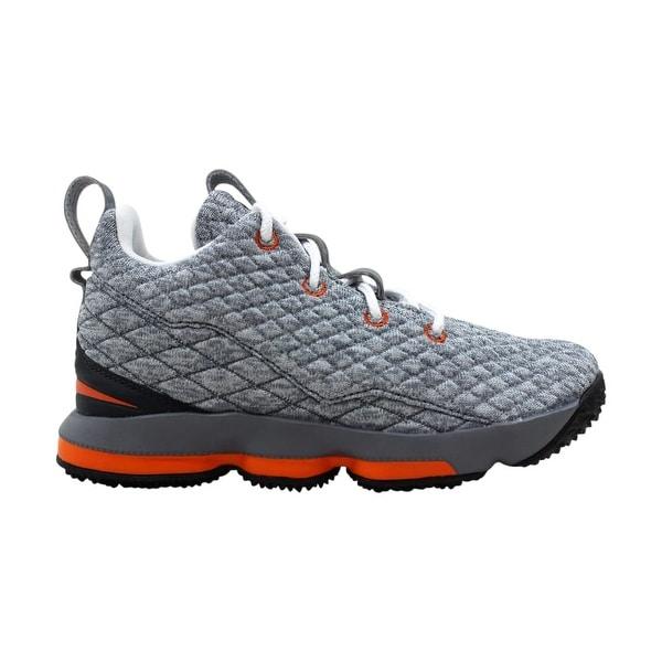 the latest 286c5 3d1ef Nike Lebron 15 XV Black/Saftey Orange-Dark Grey 922812-080 Pre-School