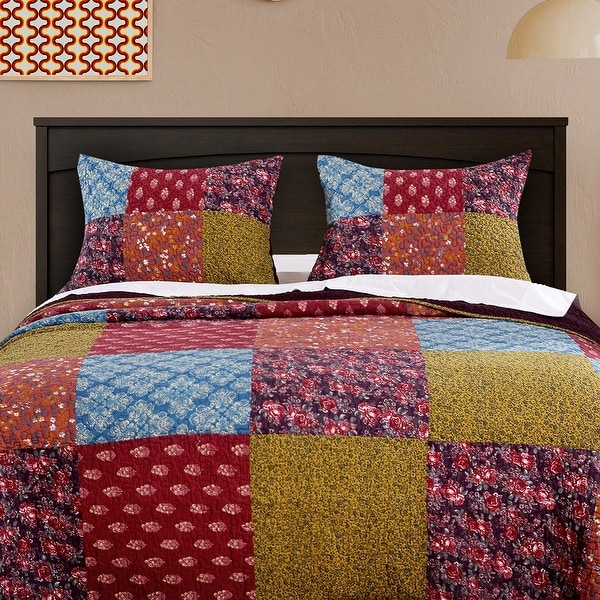 Barefoot Bungalow Normandy Quilted Pillow Shams, Set of Two. Opens flyout.