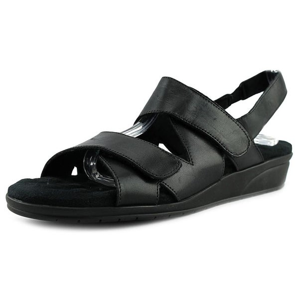 Walking Cradles Orwell Women N/S Open-Toe Leather Black Slingback Sandal