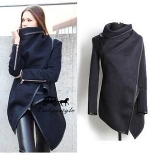 Slim Temperament Woolen Coat Windbreaker Jacket
