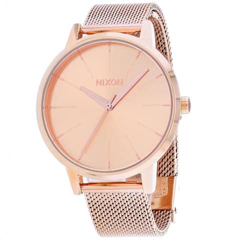 Nixon Women's Kensington Milanese Rose gold Dial Watch - A122-9897 - One Size