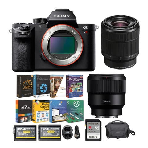 Sony Alpha a7R II Mirrorless Camera with 28-70mm and 85mm Lens Bundle