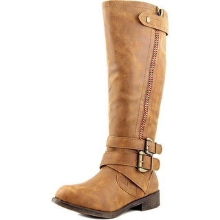 Madden Girl Cristy Women  Round Toe Synthetic Brown Knee High Boot