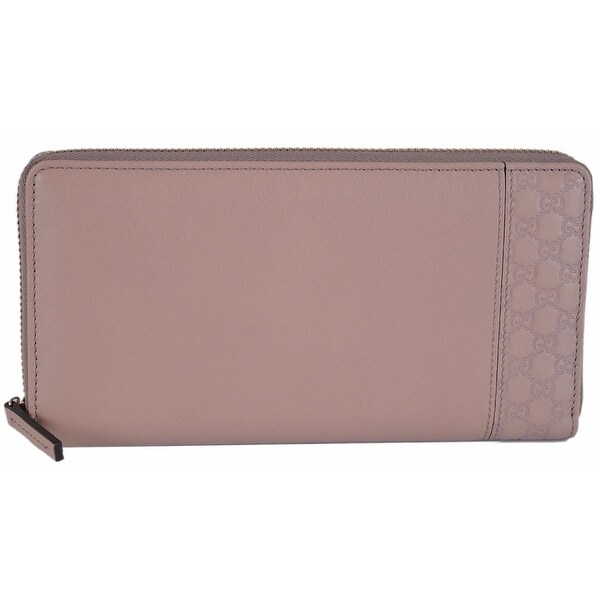 057a35122c2e76 Shop Gucci Women's 338598 Light Pink Leather GG Guccissima Zip Around Wallet  - Free Shipping Today - Overstock - 12151388