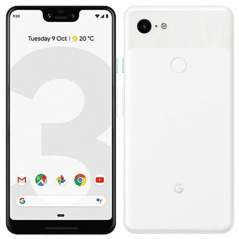 Google Pixel 3 XL Clearly White 128GB Verizon GSM Unlocked T-Mobile AT&T - Clearly White