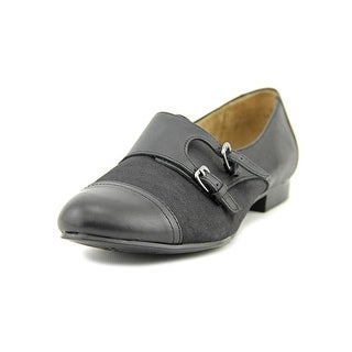 Naturalizer Learner Women W Round Toe Leather Black Loafer