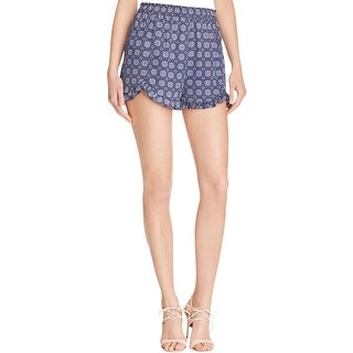 Aqua Womens Casual Shorts Chiffon Printed