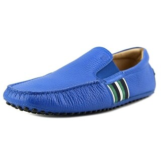 Tod's Pantofola Scuba New Gommini 122 Youth Moc Toe Suede Blue Loafer