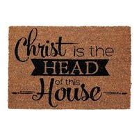Christ is The Head of This House Out Door Mat, 24 x 16 in.