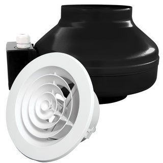 "Air King ILK16 240CFM In-line Exhaust Fan Kit with 6"" Duct Size"