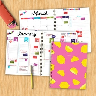 Link to 2021 Lemon Squeeze Large Weekly Monthly Planner - 8.5x11 Similar Items in Calendars & Journals