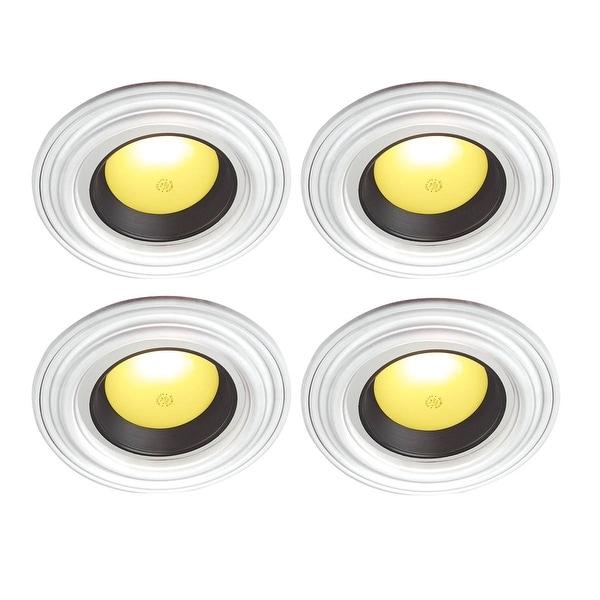 4 Spot Light Ring White Trim 6.5 ID x 10OD Mini Medallion | Renovator's Supply