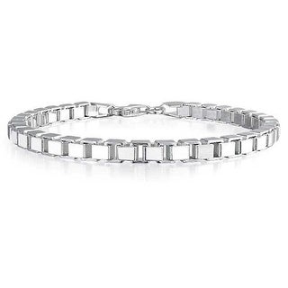 Bling Jewelry Wide Box Link 925 Sterling Silver Bracelet Italy