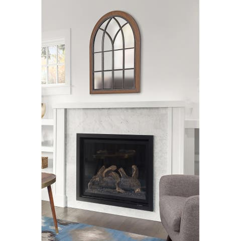 Kate and Laurel Nola Framed Windowpane Arch Mirror - 22x28