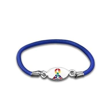 Autism ASD and Asperger Awareness Stretch Bracelet