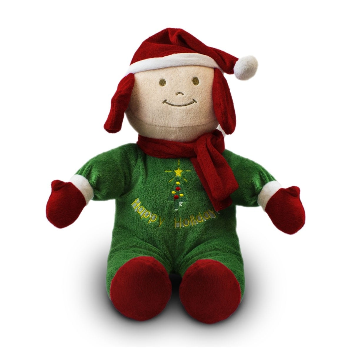 Beverly Hills Teddy Bear Company Christmas Doll Green - Thumbnail 0