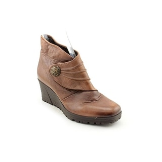 Earth Dune Women  Round Toe Leather  Ankle Boot
