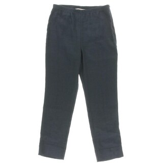 Karen Kane Womens Cropped Pants Linen Flat Front - 10