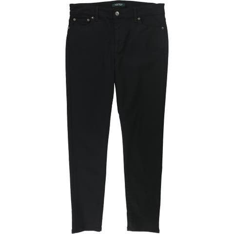 Ralph Lauren Womens Premier Skinny Fit Jeans, Black, 10