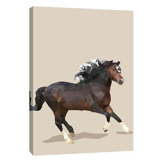 "PTM Images 9-109121  PTM Canvas Collection 10"" x 8"" - ""Fractal Horse"" Giclee Horses Art Print on Canvas"