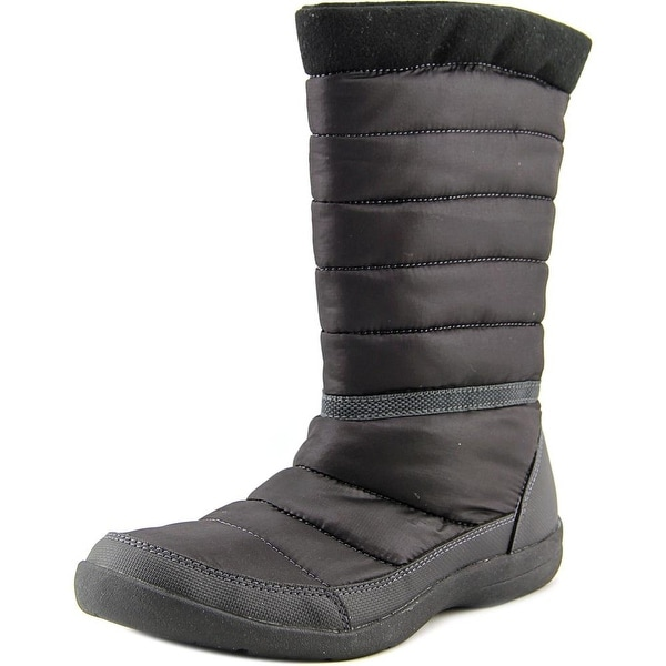 Easy Spirit Kingsland Women Round Toe Canvas Black Winter Boot