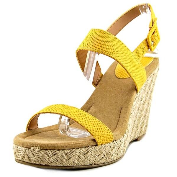 Style & Co Radleyy Women Open Toe Synthetic Yellow Wedge Heel