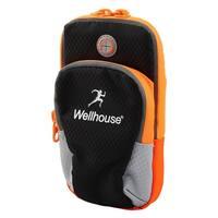 Wellhouse Authorized Phone Holder Adjustable Running Sports Arm Bag Black M