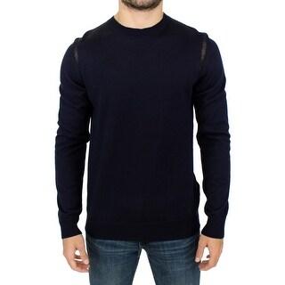 Karl Lagerfeld Karl Lagerfeld Blue wool crewneck pullover sweater