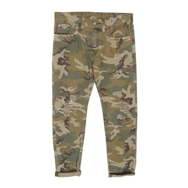7a70f98a9 Shop Ralph Lauren Women s Distressed Boyfriend Jeans - Camo - 24 ...