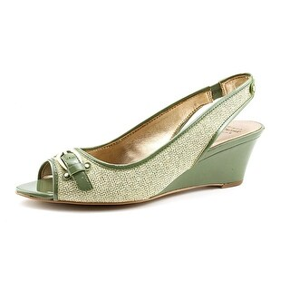 Circa Joan & David Salford Women Open Toe Canvas Wedge Heel