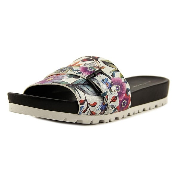 Elie Tahari Sanddune Women Open Toe Leather Multi Color Slides Sandal