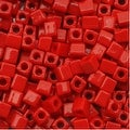 Miyuki 4mm Glass Cube Beads Opaque Red 407 10 Grams - Thumbnail 0