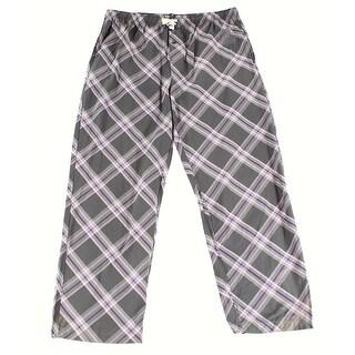 PSYCHO BUNNY NEW Gray Purple Mens Size XL Plaid Sleepwear Lounge Pants