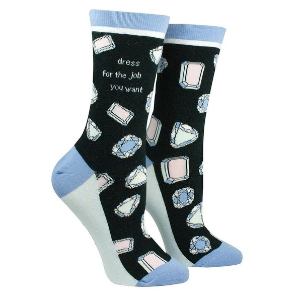 Socks - It's A Girl Thing - Dress for the Job You Want - Mid-Calf Length - Medium