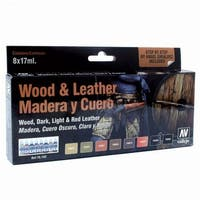 Acrylicos Vallejo VJP70182 Wood & Leather Model Color Set