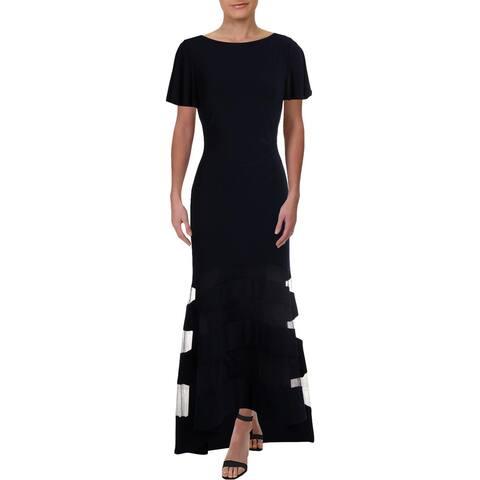 Lauren Ralph Lauren Womens Serina Evening Dress Formal Sheath