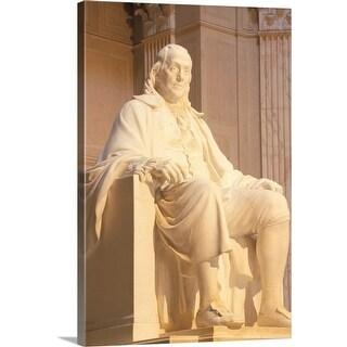"""USA, Philadelphia, Benjamin Franklin statue at Franklin Institute"" Canvas Wall Art"