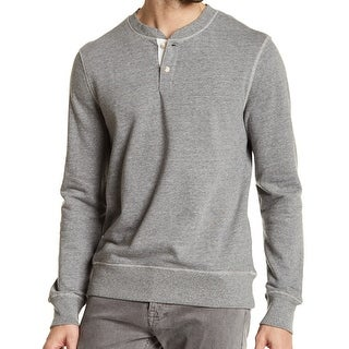 Joe Fresh NEW Gray Mens Size Large L Rib-Knit Classic Fit Henley Sweater