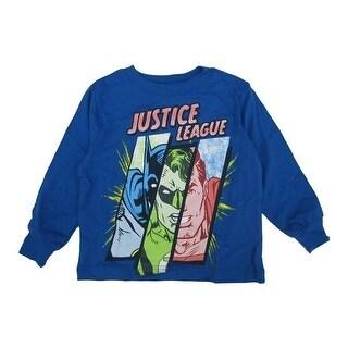 Marvels Baby Boys Royal Blue Justice League Superhero Printed Shirt 12-18M