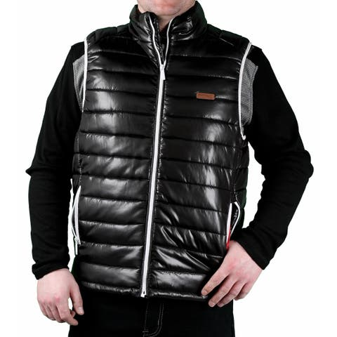 MO7 Men's Poly Filled 'Down-Look' Bubble Vest
