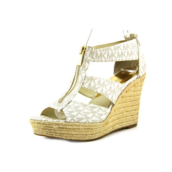 2677a7f5c889 Michael Michael Kors Damita Wedge Women Open Toe Synthetic Ivory Wedge  Sandal